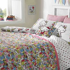 Hello Kitty For Liberty Art London Town Duvet Cover Set - Double