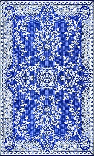 Intérieur/extérieur guirlande Mad Tapis Tapis de sol, 4 par 6 pieds, Bleu et Blanc