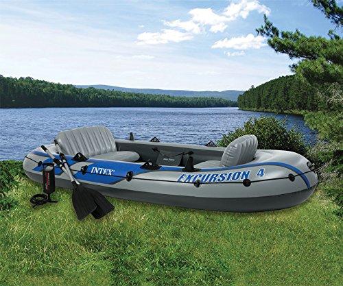 Intex 68324 aufrüstbar zum Motorboot Grösse 315x65cm Boot Schlauchboot Angelboot 400kg/4 Pers.Excursion 4 -