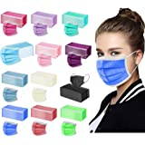 ZXSE 50PC Unisexe Adulte 3Couches Pure_Mas_ques, Forte Protection du Tissu jetable Face_Covering