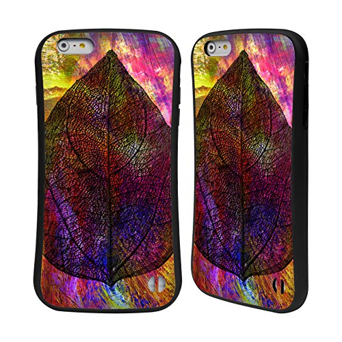 Ufficiale Haroulita Tropicale Neon Foglie Case Ibrida per Apple iPhone 6 Plus / 6s Plus Vivido