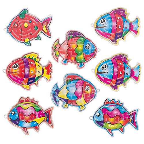 Partynelly 10x Geduldsspiel Fisch | Mitgebsel | Kindergeburtstag | TFische | Meerestiere