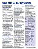 Word 2016 for Mac Introduction Quick Reference Guide (Cheat Sheet of Instructions, Tips & Shortcuts - Laminated Card)