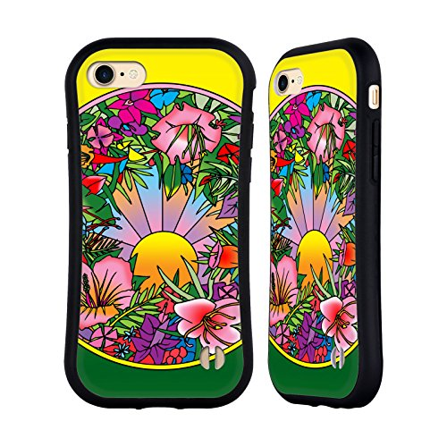 Ufficiale Howie Green Astratto Cerchio Case Ibrida per Apple iPhone 7 / iPhone 8 Pop Art Fiori 615