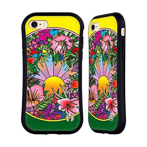 Ufficiale Howie Green Astratto Cerchio Case Ibrida per Apple iPhone 7 / iPhone 8 Pop Art Fiori 615