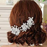 Losuya® Hairpin headdress hair accessories wedding bridal pearl flower hairpin hair fork 6Pcs