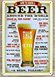 Muestra de la lata placa de la pared como para pedir una cerveza en todo el mundo Póster de 20 x 30 cm de Pub Retro en el hogar