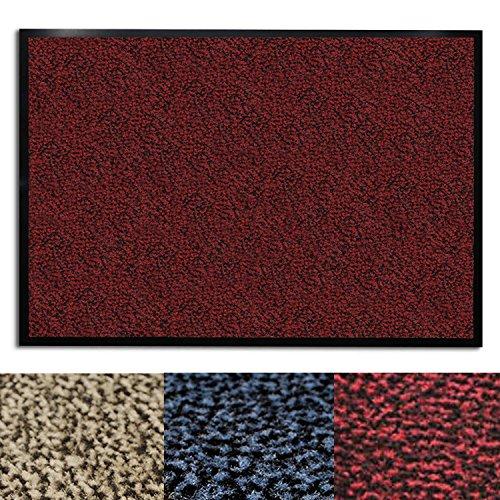 casa pura® Premium Fußmatte für Eingangsbereiche   Schmutzfangmatte in 6 Größen   rot - meliert   60x90cm