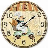 creativos relojes de madera que cuelgan de silencio europeos 30CM miran el reloj digital de pared espejo redondo vinilos decorativos adhesivos de pared pegatinas de pared reloj de pared gafas de lectura , 3
