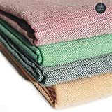 Style Urban Cotton Multicolor Single Blanket(Set Of 2)