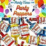 Henbrandt LTD Party Knaller Popper Knallflasche 12 Stück Luftschlangen Konfetti Sylvester Karneval Party