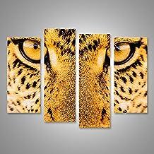 Cuadro Cuadros Primer plano de la textura de la impresión de las tiras de tela de leopardo Impresión sobre lienzo - Formato Grande - Cuadros modernos