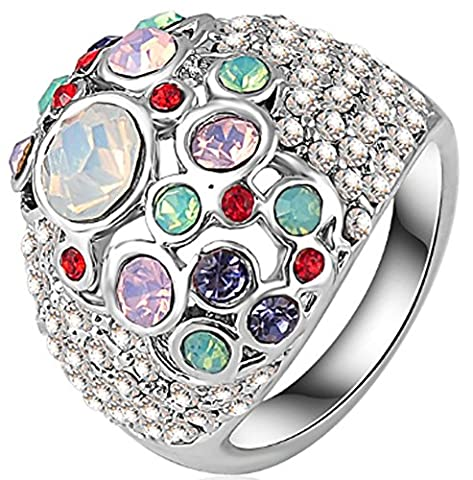 SaySure - Rhinestone Princess Ring Austrian Crystal (SIZE : 6.5)