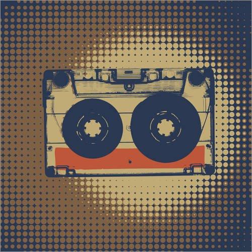 Posterlounge Forex 120 x 120 cm: Retro Cassette de Editors Choice