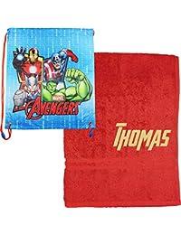 TeddyTs - Bolsa con cordón para la Escuela, diseño de Marvel, Los Vengadores,