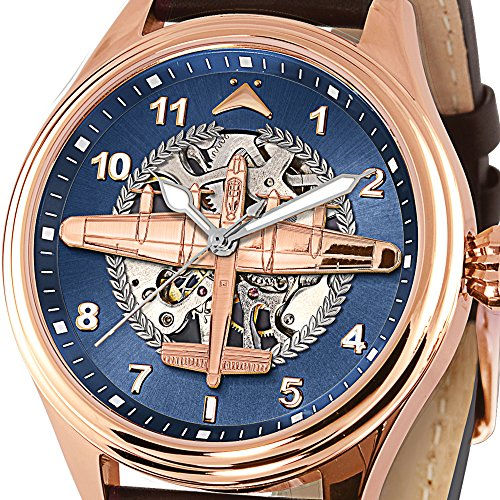 'Dambusters' – Mechanical Watch with Lancaster Bomber – Stainless Steel with 22-Carat Gold Plating Exclusively Available From The Bradford Exchange