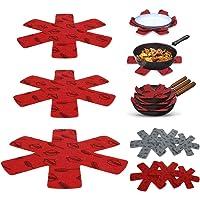 15 Pcs Protection Casseroles et Protège-Poêle en Feutre Rembourré Poêle Protection avec 3 Tailles Coussinets d…