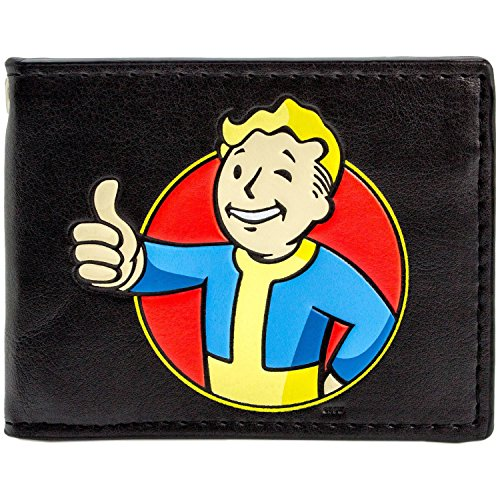 Bethesda Fallout 4 Vault Boy Thumbs Up Schwarz Portemonnaie Geldbörse