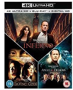 Inferno / Angels & Demons / The Da Vinci Code Box Set 7-Disc Box Set (4K Ultra HD Blu-ray + Blu-ray) [2016] [Region Free]