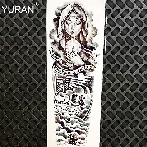 Generic Black Death Skull Skeleton Waterproof Temporary Tattoo Men Arm Sleeve Fake Water Trasnfer Tattoo Sticker Women Girl Makeup Tatoo GQB031