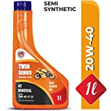 CANDICE Twin Series 20W40 API SM Tech Engine Oil for Bikes (1 L)
