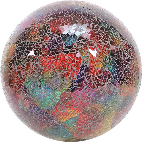 Very Cool Stuff VCS GLMTLF10 Mosaic Glass Gazing Ball, Turquoise/Lime/Fuchsia, 10-Inch