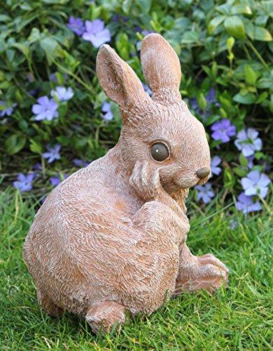 Hase sitzend - Terrakotta, Deko-Figur als schöne Osterdeko für Wohnung, Haus und Garten, Osterhase als Geschenk