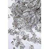 Rayher 2171522 Deco-Metall-Flocken, SB-Box 1g, silber