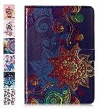 Coeyes Tablet-PC Hülle kompatibel für Universal 10 Zoll (9.5-10.5 Zoll) Muster Design Tasche Leder Flip Case Etui Schutzhülle