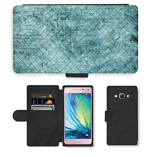 Portafoglio del Cuoio di vibrazione del Titolare della carta Custodia per // M00153609 Fond d'écran Fond abstrait vert // Samsung Galaxy A5 (not fit S5)