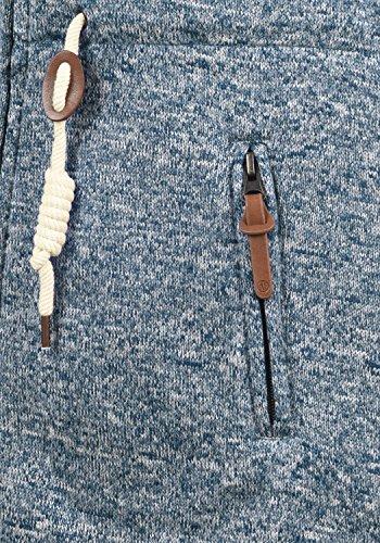 DESIRES Thora Damen Lange Fleecejacke Sweatjacke Jacke Mit Kapuze Und Daumenlöcher, Größe:S, Farbe:Insignia Blue (1991) - 4