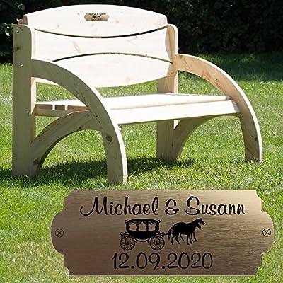 Gartenbank mit Personalisierung aus massivem Fichtenholz von Geschenke24 GmbH - Gartenmöbel von Du und Dein Garten