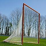 Lacrosse Goalposts [Regulation] – 6ft x 6ft Competition Lacrosse Goal [NET WORLD SPORTS] (Single Lacrosse Goal & Net)