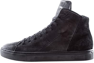 Crime London Art. 11670AA Sneaker Uomo in Pelle e camoscio Nera