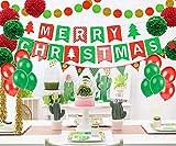 Sayala Decorazione Natale,Kit di Decorazioni per la Festa di Fiori in Carta Fai-da-Te, striscioni di Natale, Banner di Natale con Fiocchi di Neve