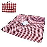 M&K Outdoor Picknickdecken Wasserdicht Picknick-Matte Alu Beschichtet Feuchtigkeitsfest Portable Folding Extra Große Beach Camping Mat-Rot 200x150cm(79x59inch)