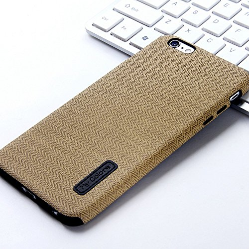 """MOONCASE iPhone 6 Plus/iPhone 6s Plus Hülle, Weich TPU Kratzfest Stoßfest Schutztasche [Fabric Pattern] Schroff Rüstung Handysocken Case für iPhone 6 Plus/iPhone 6s Plus 5.5"""" Blue-1 Yellow-2"""