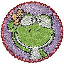 4,2 cm Bügelbild Aufnäher Applikation Frösche Märchen Tier Quack Frosch 4 cm