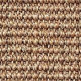 Teppichboden Auslegware | Sisal Naturfaser Schlinge | 400 cm Breite | braun beige natur | Meterware, verschiedene Größen | Größe: 1 Muster