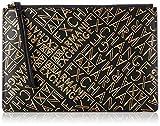 Armani Exchange Big Pouch, Sacs menotte femme, Or (Black & Gold), 20.0x0.5x29.0 cm (B x H T)