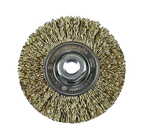 Osborn brosse ronde pour meuleuse d'angle 115 mm, brosse ronde d115 x 12 mm-filetage m14 x 2,0 ondulés Cordwire 0,27 mm certifié TÜV, 2812522051