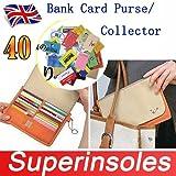 Ricezione banca della borsa portaoggetti da collezione, con tasca con zip, UP TP 40carte
