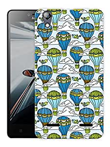 """Humor Gang Balloons In Clouds Sky Printed Designer Mobile Back Cover For """"Lenovo A6000 - A6000 PLUS"""" (3D, Matte Finish, Premium Quality, Protective Snap On Slim Hard Phone Case, Multi Color)"""