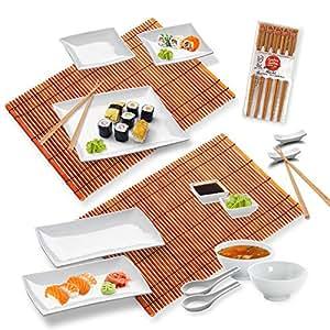 Sushi-Service / Asia Service / Sushiset SHANGHAI 19-tlg. für 2 Personen