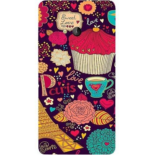 Casotec Paris Flower Love Design Hard Back Case Cover for Microsoft Lumia 540
