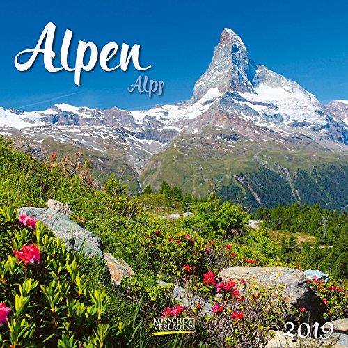 Alpen 2019. Broschürenkalender: Broschürenkalender mit Ferienterminen
