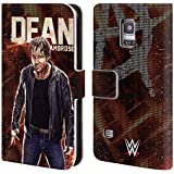 Official WWE Dean Ambrose Superstars Leather Book Wallet Case Cover For Samsung Galaxy S5 mini