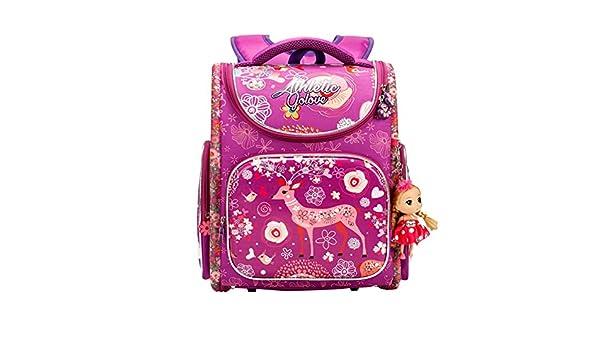 54acaae6e5 Buy Moonwind Kids Backpacks for Girls Elementary School Book Bags Princess  with Doll (go8801