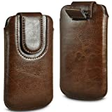 N4U Online® Doro PhoneEasy 612 Premium PU Leather Pull