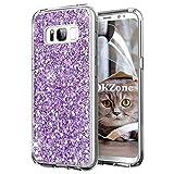 OKZone Galaxy S8 Hülle, Luxus Glitzer Bling [Glänzende Mode] Design Weich TPU Bumper Case Silikon Schutzhülle Handy Tasche Rückseite Hülle Etui Cover TPU Bumper Schale für Samsung Galaxy S8 (Lila)